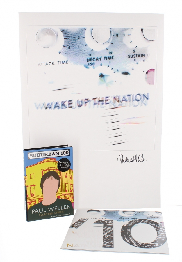 Lot Number 644. Paul Weller - 'Wake Up the Nation' limited edition signed lithograph print, no. 141 of 350, 27