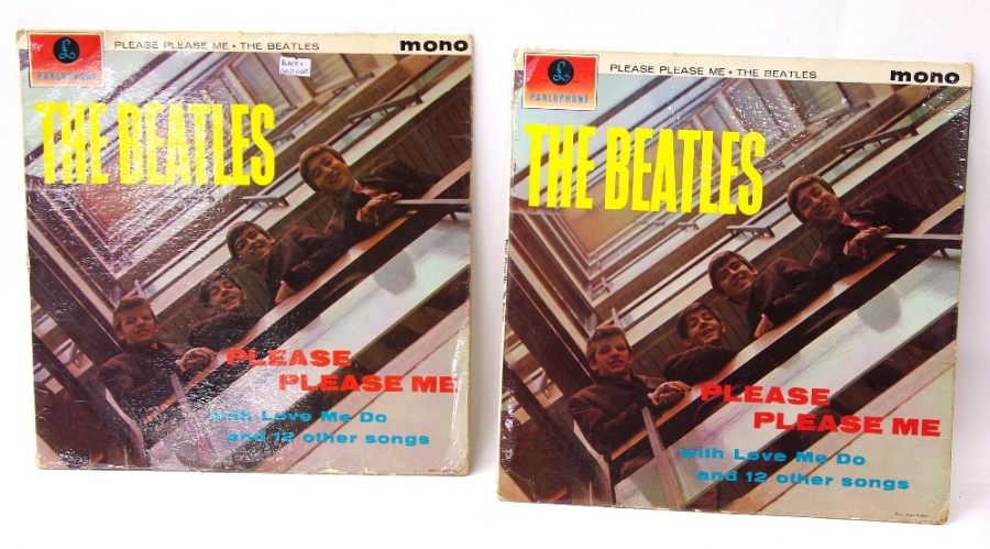 Lot Number 704. Beatles - 'Please Please Me' vinyl LP, PMC1202, 1963 mono pressing. Auctioned at Memorabilia, Guitar Amps, Effects & Audio on 13th June 2019