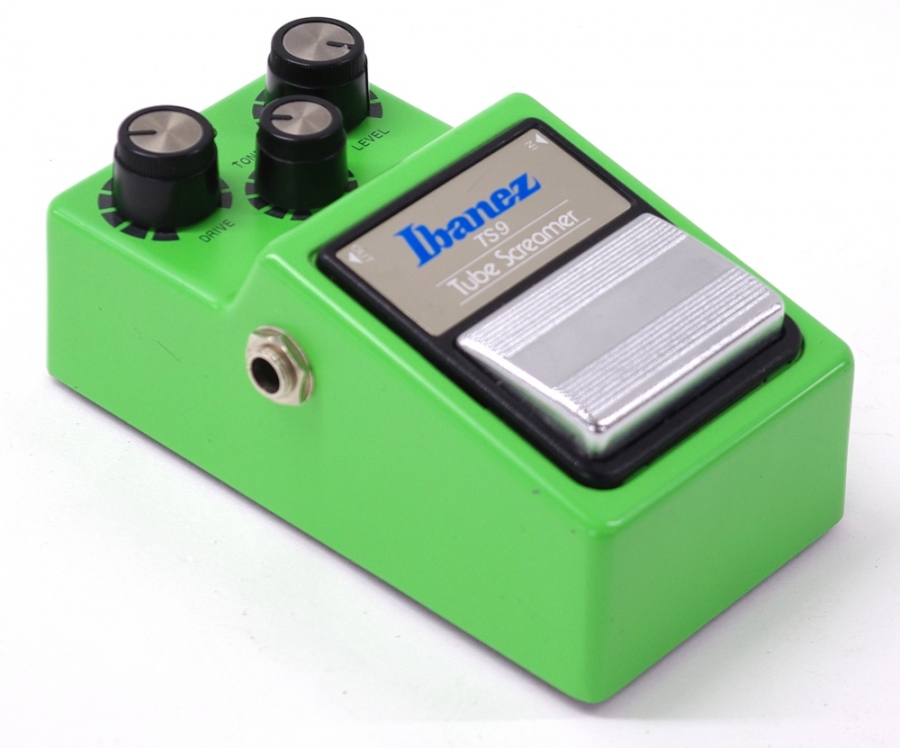 Lot Number 886. 1983 Ibanez TS9 Tube Screamer guitar pedal, made in Japan, ser. no. 388149, with JRC4558D chip. Auctioned at Memorabilia, Guitar Amps, Effects & Audio on 13th June 2019