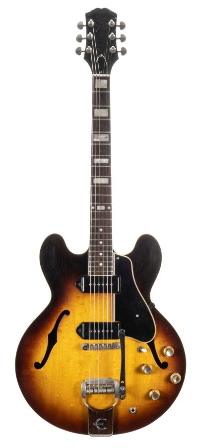 Lot Number 250. 1961 Epiphone Casino semi-hollow body electric guitar, made in USA, ser. no. 9xx5. Auctioned at The Guitar Auction on 11th September 2019