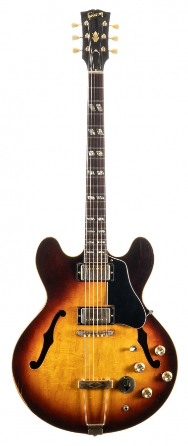 Lot Number 364. Late 1960s Gibson ES-345 electric guitar, made in USA, serial no. 9xxxx6, Finish: sunburst, lacquer checking, buckle wear to back, further rubbing and dings. Auctioned at The Guitar Auction on 11th September 2019