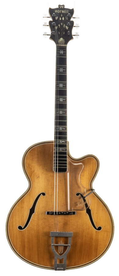 Lot Number 78. 1958 Hofner Committee Deluxe archtop guitar, made in Germany, no. 117. Auctioned at The Guitar Auction on 11th September 2019