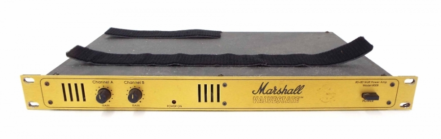 Lot Number 611. Marshall Valvestate 8008 amplifier, made in England, ser. no. 944928423, appears to power on although not fully tested for functionality. Auctioned at The Tears for Fears Collection, Guitar Amplification, Spares & Audio on 13th December 2018
