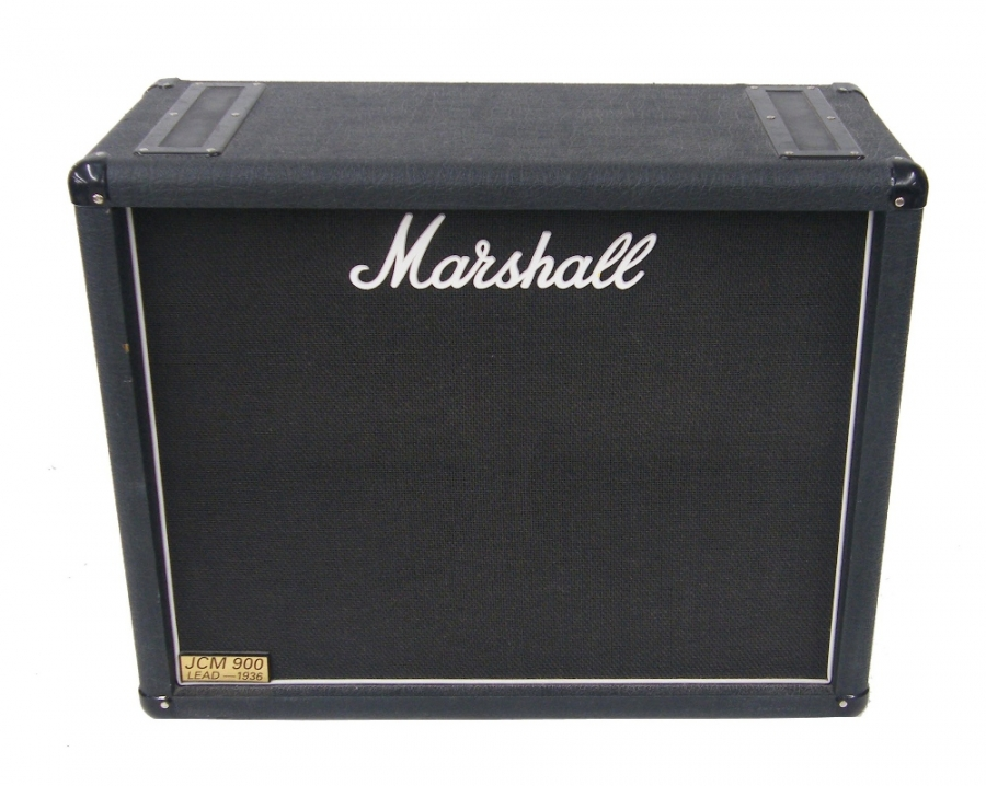 Lot Number 818. Marshall JCM900 Lead-1936 2 x 12 guitar amplifier speaker cabinet. Auctioned at The Tears for Fears Collection, Guitar Amplification, Spares & Audio on 13th December 2018