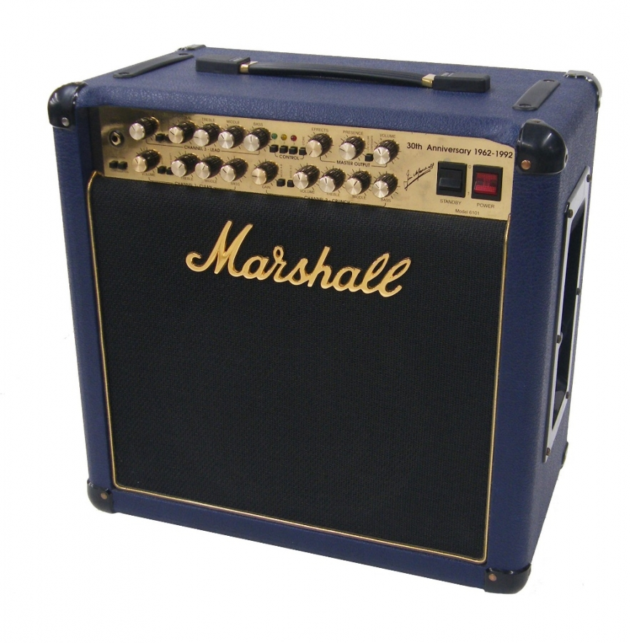 Lot Number 860. 1992 Marshall 30th Anniversary Model 6101 guitar amplifier, made in England, no. CO325, dust cover. Auctioned at The Tears for Fears Collection, Guitar Amplification, Spares & Audio on 13th December 2018