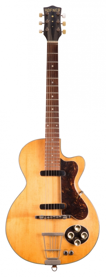 Lot Number 14. 1958 Hofner Club 50 electric guitar, made in Germany, ser. no. 5x0. Auctioned at The Guitar Auction - Including the Frank Allen Collection on 12th December 2018