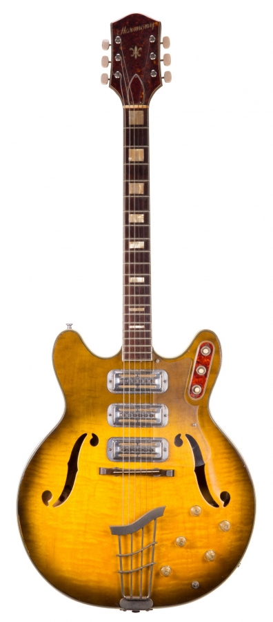 Lot Number 232. 1960s Harmony H75 hollow body electric guitar, made in USA, ser. no. 2x8. Auctioned at The Guitar Auction - Including the Frank Allen Collection on 12th December 2018