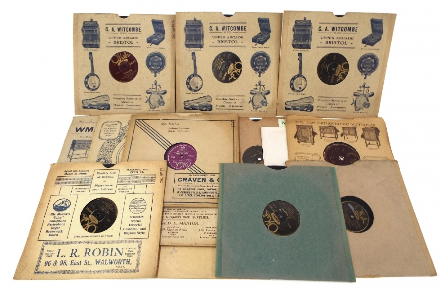 Lot Number 109. Fourteen various Okeh 78 records including nos. 51504, 41423, 41157, 41025, 41144, 40772, 40822, 40966, 40947, 6707, 06288, 06277, 8106 and 4925. Auctioned at The Guitar Auction - Including Music Memorabilia on 12th September 2018