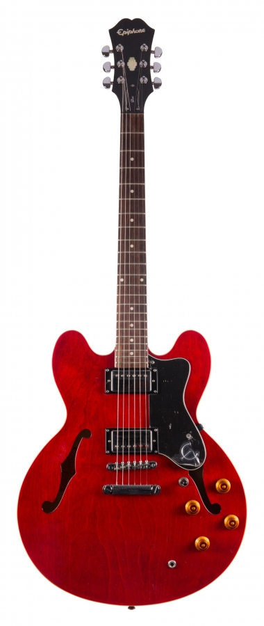 Lot Number 227. 2007 Epiphone Dot semi hollow body electric guitar, ser. no. EE07xxxxx21. Auctioned at The Guitar Auction - Including Music Memorabilia on 12th September 2018