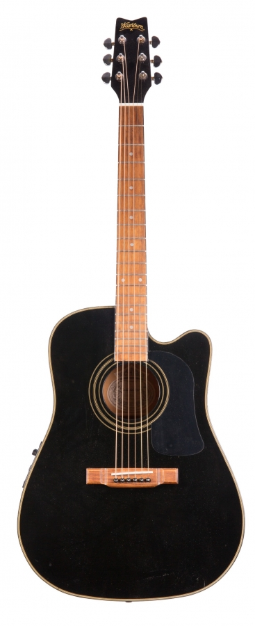 Lot Number 274. Washburn D-12 SCEI/BK electro-acoustic guitar. Auctioned at The Guitar Auction - Including Music Memorabilia on 12th September 2018