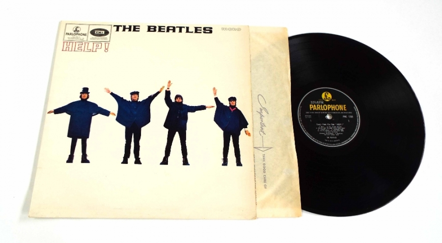 Lot Number 5. The Beatles - Help!, PMC 1255, first pressing, outline mono, Gramophone Co and 'Sold in' text, a few light marks on vinyl, G&L, vinyl VG+, cover near mint, a superb looking copy. Auctioned at The Guitar Auction - Including Music Memorabilia on 12th September 2018
