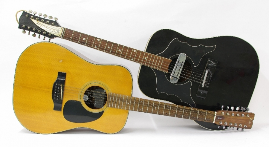 Lot Number 588. Fender F-5-12 twelve string acoustic guitar, fitted with a Schaller sound hole pickup, attention required to action, attention required to back. Auctioned at The Guitar Auction - Including Music Memorabilia on 12th September 2018