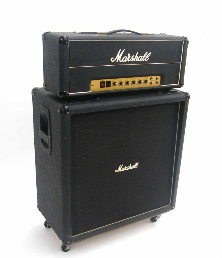 Lot Number 624. 1977 Marshall JMP Super Bass 100 watt MK II guitar amplifier head, ser. no. 08634J. Auctioned at The Guitar Auction - Including Music Memorabilia on 12th September 2018