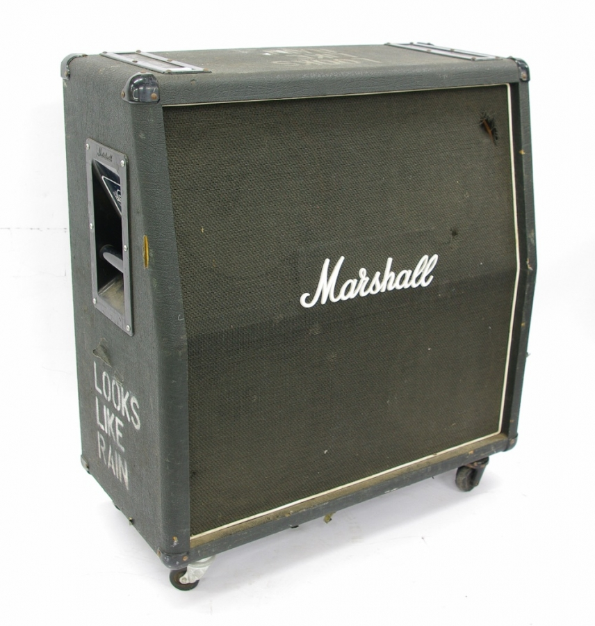Lot Number 413. Marshall 1984 Bass angled 4 x 12 guitar speaker cabinet, ser. no. 1250. Auctioned at The Guitar Auction on 14th June 2018