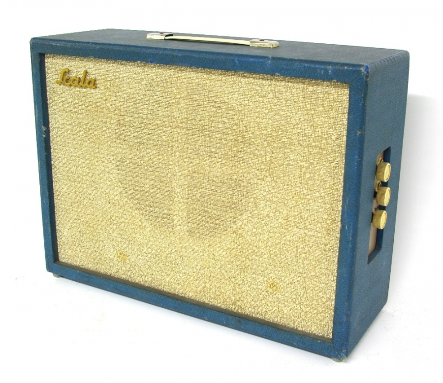 Lot Number 445. Early 1960s Dallas Scala 515 guitar amplifier, made in England, some scuffs to outer tolex, in working order. Auctioned at The Guitar Auction on 14th June 2018