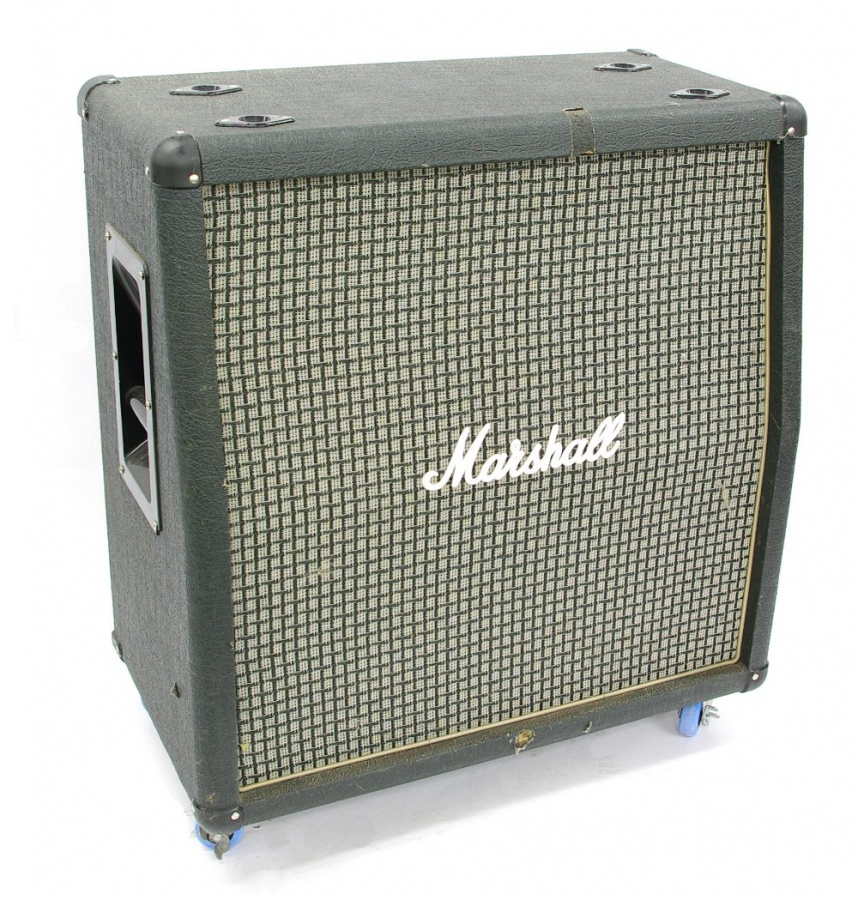 Lot Number 458. Marshall AVT412 4 x 12 guitar amplifier speaker cabinet. Auctioned at The Guitar Auction on 14th June 2018