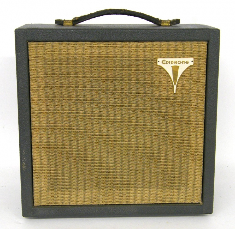 Lot Number 471. 1960 Epiphone EA-50 Pacemaker guitar amplifier, made in USA, ser. no. 28982 (USA voltage, requires step-down transformer), working. Auctioned at The Guitar Auction on 14th June 2018