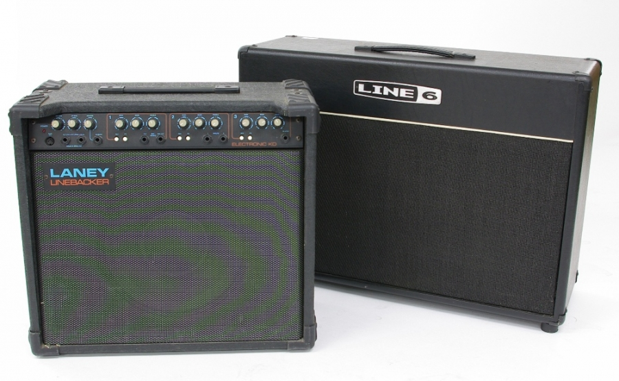 Lot Number 475. Line 6 2 x 12 guitar amplifier speaker cabinet. Auctioned at The Guitar Auction on 14th June 2018