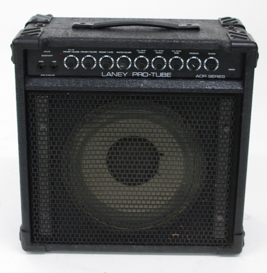 Lot Number 477. Laney Pro-Tube AOR series guitar amplifier, made in England, generally in clean condition, control knobs missing caps, appears to be working. Auctioned at The Guitar Auction on 14th June 2018