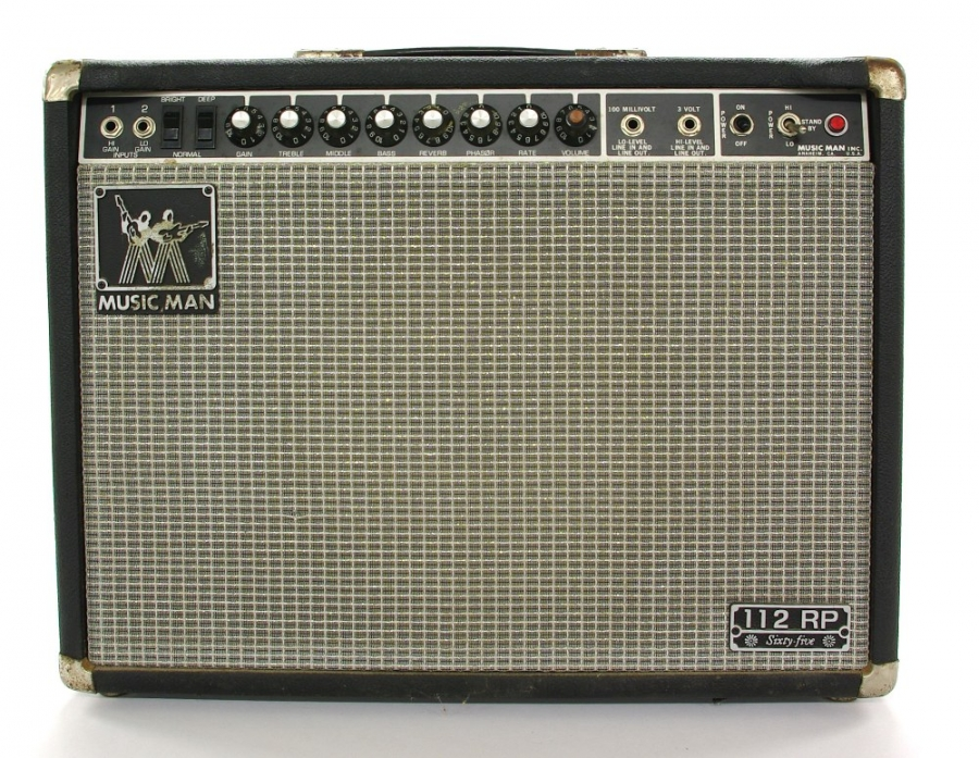 Lot Number 489. Music Man 112RP Sixty Five guitar amplifier, made in USA, ser. no. DN01436, dust cover. Auctioned at The Guitar Auction on 14th June 2018
