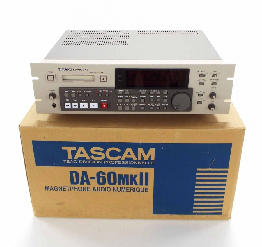 Lot Number 683. Tascam DA-60 MK II, made in Japan, ser. no. 0130089, boxed unused and as new. Auctioned at The Guitar Auction on 14th June 2018