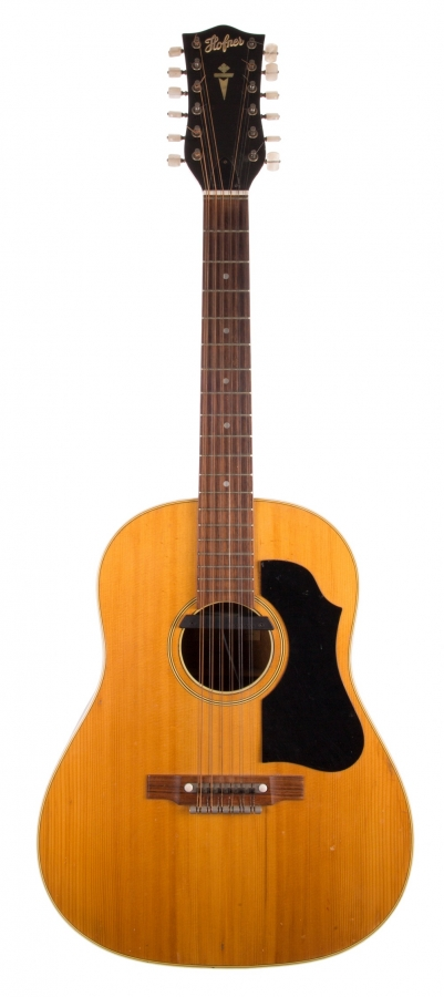 Lot Number 124. �Hofner 5156 Western twelve string acoustic guitar, made in Germany, no. 781. Auctioned at The Guitar Auction on 8th March 2018
