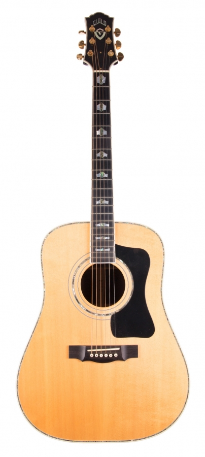 Lot Number 242. 1999 Guild Custom Shop 45th Anniversary Deco dreadnought acoustic guitar, made in USA, serial no. 10xxxx41. Auctioned at The Guitar Auction on 8th March 2018