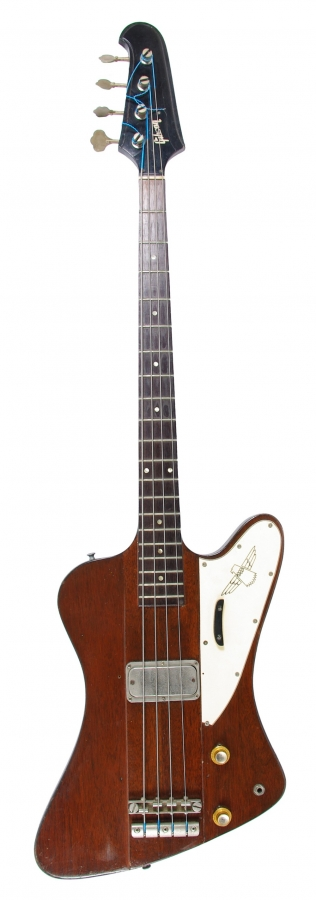 Lot Number 60. Gibson Thunderbird bass guitar, made in USA, circa 1963. Auctioned at The Guitar Auction on 8th March 2018