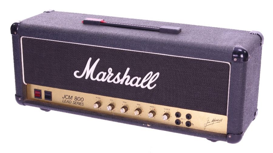 Lot Number 104. *Gary Moore - 1984 Marshall model 1987 JCM 800 Lead Series MK II guitar amplifier head, made in England, ser. no. S/A S28385, back metal grille currently removed (attachment screws missing), emits hum while running. Auctioned at The Guitar Auction - Including The Gary Moore Collection on 11th December 2019