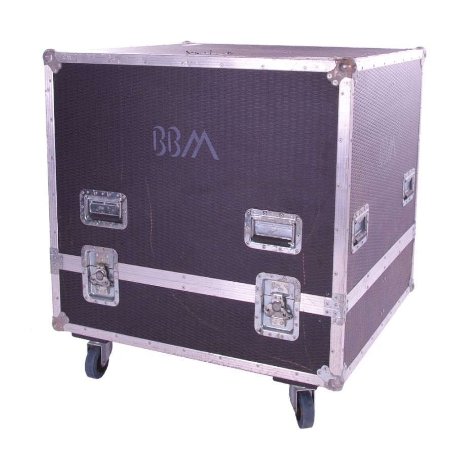 Lot Number 116. *Gary Moore - Large flight case on wheels, stenciled 'BBM' *Used during the 1993/4 BBM (Bruce, Baker, Moore) tour to transport amplification speaker cabinets **This lot is subject to VAT of 20% on the hammer price  ?50-100. Auctioned at The Guitar Auction - Including The Gary Moore Collection on 11th December 2019