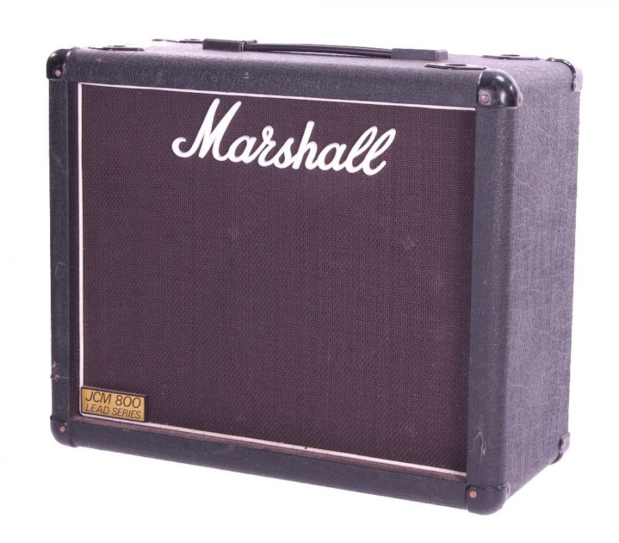Lot Number 119. *Gary Moore - Marshall model 1933 1 x 12 guitar amplifier speaker cabinet, made in England, ser. no. 1932 **This lot is subject to VAT of 20% on the hammer price  ?50-100. Auctioned at The Guitar Auction - Including The Gary Moore Collection on 11th December 2019