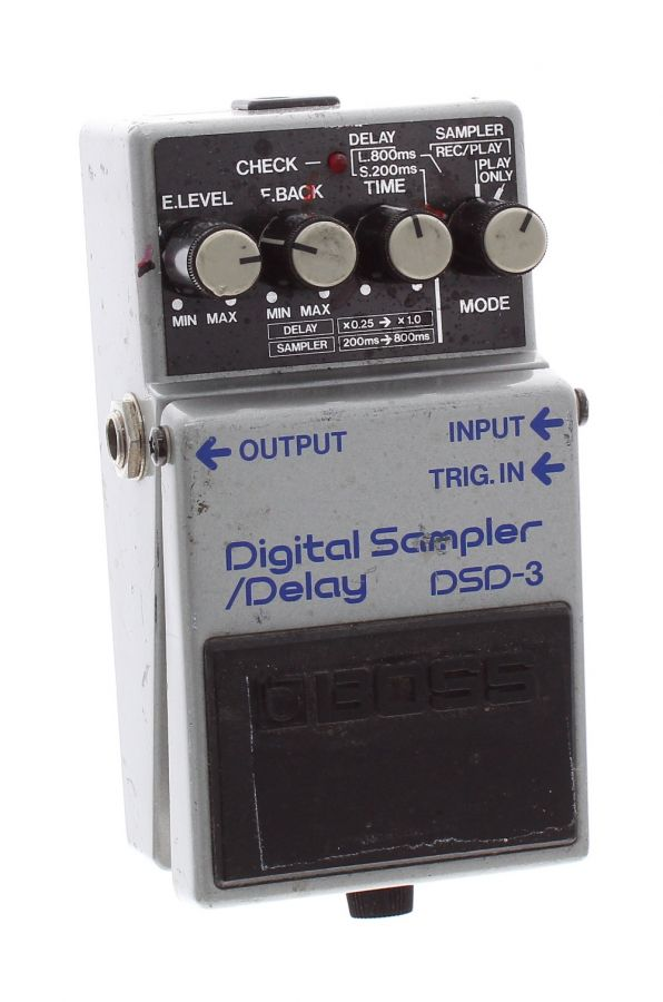 Lot Number 156. *Gary Moore - 1987 Boss DSD-3 Digital Sampler/Delay guitar pedal, made in Japan, blue label, ser. no. 806065 *This pedal has seen stage use, hence Gary settings marked on the front. The pedal features in the