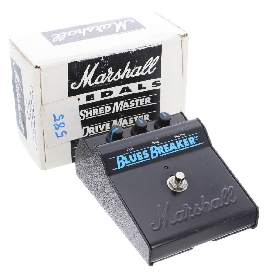 Lot Number 174. *Gary Moore - Marshall Blues Breaker Mark I guitar pedal, ser. no. B08717, boxed *Part of Gary's extensive collection of stage or studio used pedals. Gary was always keen to check out the latest pedal, and would be spotted in music stores across Europe seeking out the latest gadget to add to his collection **This lot is subject to VAT of 20% on the hammer price  ?80-120. Auctioned at The Guitar Auction - Including The Gary Moore Collection on 11th December 2019