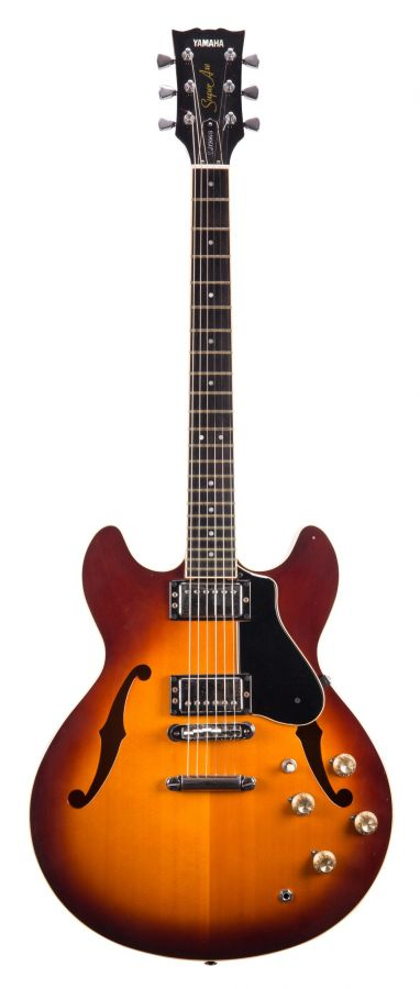 Lot Number 193. Roland Orzabal (Tears for Fears) - 1980s Yamaha Super Axe SA1200S semi-hollow body electric guitar, made in Japan, ser. no. KXHL031. Auctioned at The Guitar Auction - Including The Gary Moore Collection on 11th December 2019