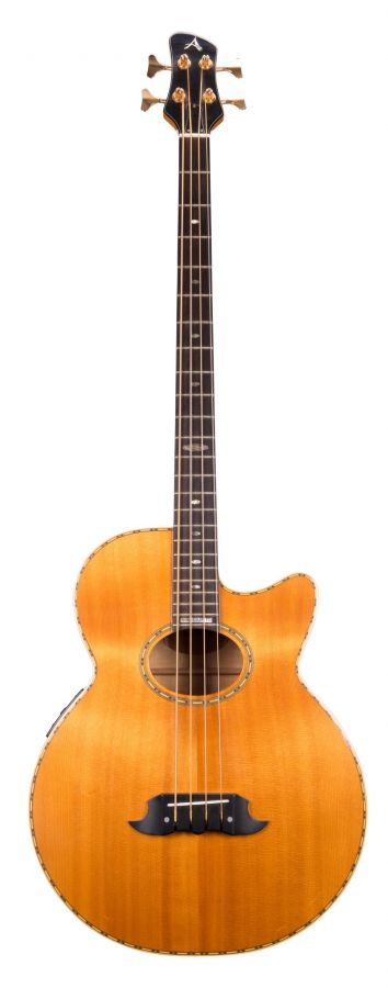 Lot Number 194. John Entwistle - Athlete AX-4 electro-acoustic bass guitar, ser. no. 4006. Auctioned at The Guitar Auction - Including The Gary Moore Collection on 11th December 2019
