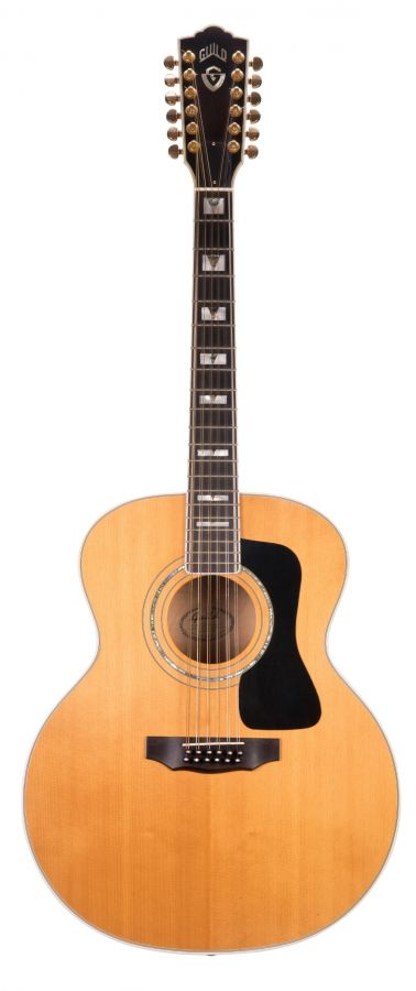 Lot Number 418. Late 1990s Guild JF65-12 twelve string acoustic guitar, made in USA, ser. no. AJ6xxxx2. Auctioned at The Guitar Auction - Including The Gary Moore Collection on 11th December 2019