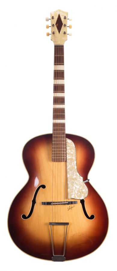 Lot Number 84. 1950s Hofner Model 455 archtop guitar, made in Germany. Auctioned at The Guitar Auction - Including The Gary Moore Collection on 11th December 2019