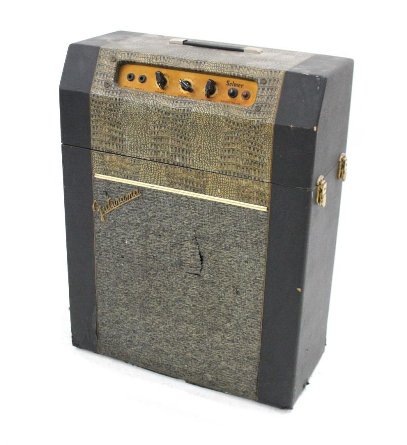 Lot Number 613. Selmer Futurama Bassist Major guitar amplifier, made in England, circa 1964, ser. no. 20896, tear to front grille, further scuffs to outer tolex. Auctioned at Guitar Amps, Effects & Memorabilia on 12th December 2019