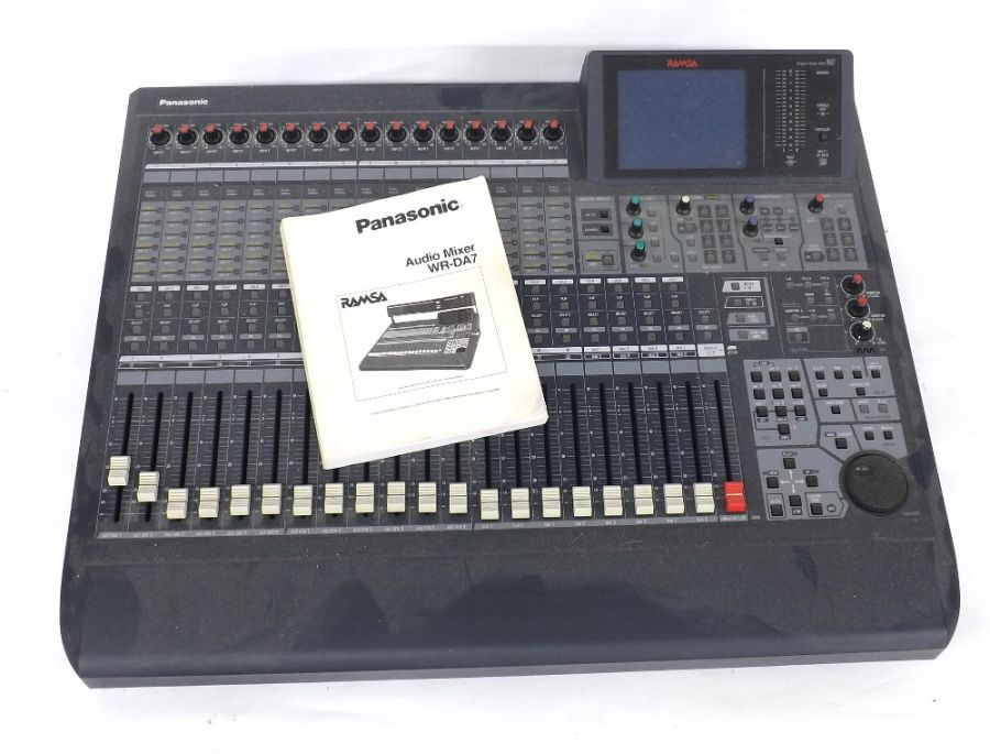 Lot Number 901. Panasonic Ramsa WR-DA7/B audio mixer, made in Japan, ser. no. 9880395. Auctioned at Guitar Amps, Effects & Memorabilia on 12th December 2019